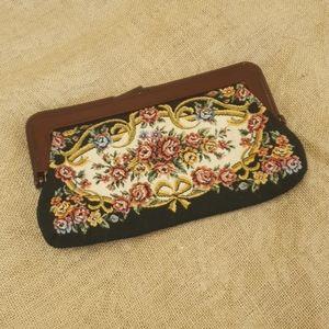 Vintage Tapestry floral clutch bag